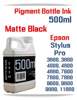 Matte Black 500ml Bottle Pigment Ink Epson Stylus Pro