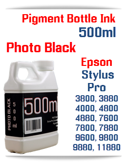 Photo Black 500ml Bottle Pigment Ink Epson Stylus Pro