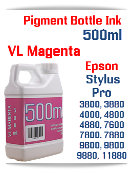 Vivid Light Magenta 500ml Bottle Pigment Ink Epson Stylus Pro