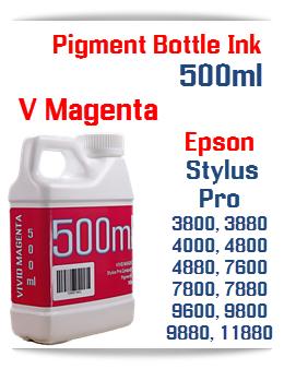 Vivid Magenta 500ml Bottle Pigment Ink Epson Stylus Pro
