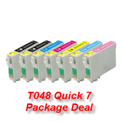7 Cartridge Package T048 High-Capacity Compatible Ink Cartridges