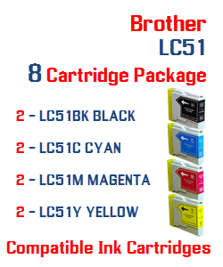8 LC51 Compatible Cartridge Package