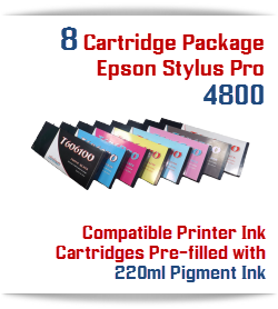 8 Cartridge Package Epson Stylus Pro 4800 Printer