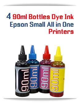4 90ml Bottles Dye ink