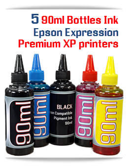 5 Color Refill Ink Package Epson Expression Premium XP 90ml