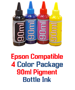 90ml 4 Color Pigment Refill ink