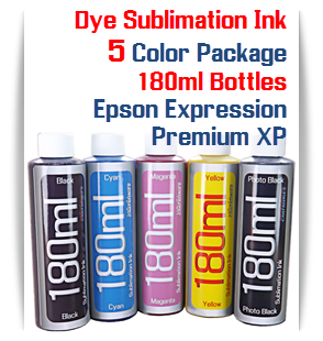 5 Color Package Dye Sublimation Ink 180ml Bottles Epson Desktop Printers