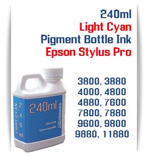 Light Cyan Epson Stylus Pro Printers 240ml Bottle Pigment Ink