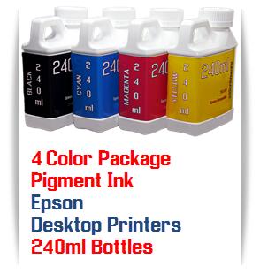 4 Bottles 240ml Pigment Ink Epson Desktop Printers