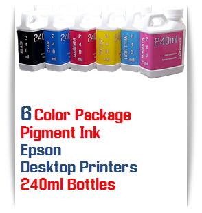6 Bottles Pigment Ink Epson Small Desktop Printers