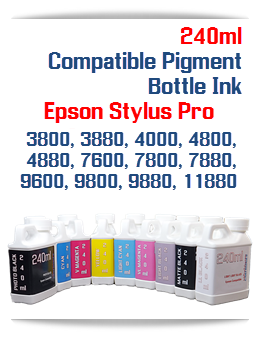 240ml Bottle Compatible UltraChrome Pigment Ink Epson Stylus Pro Printers