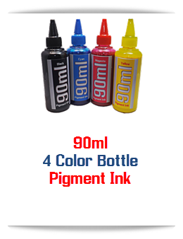 4 90ml Pigment Bottle Ink