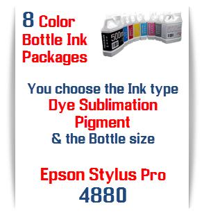 8 Bottle ink package Epson Stylus Pro 4880 printers