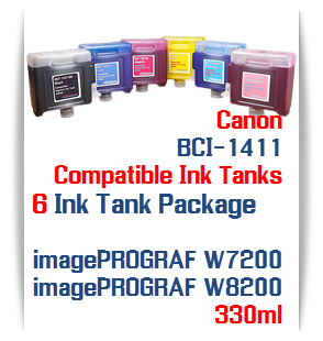 6 tank package Canon BCI-1411 Printer Ink Tanks 330ml