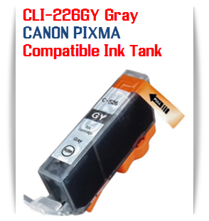 CLI-226GY Grey Compatible Canon Pixma printer Ink Cartridge W/ Chip