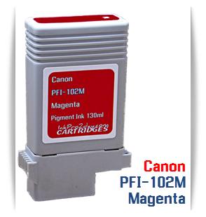 PFI-102M MagentaCanon imagePROGRAFCompatible Pigment Printer Ink Tank130ml