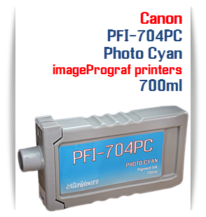 Photo Cyan Canon imageProGRAF iPF8300, iPF8300S, iPF9300, iPF9300 Compatible Pigment Ink Tank 700ml