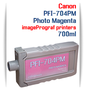 Photo Magenta Canon imageProGRAF iPF8300, iPF8300S, iPF9300, iPF9300 Compatible Pigment Ink Tank 700ml