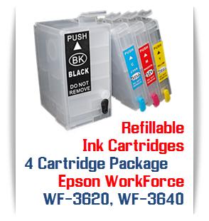 4 Cartridge Package T252XL Epson WorkForce WF-3620, WF-3640