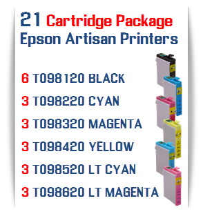 21 Cartridge Package Epson Artisan Printers