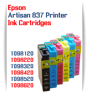 Epson Artisan 837 printer compatible ink cartridges