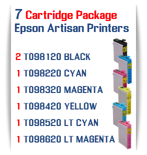 7 Cartridge Package Epson Artisan Printers