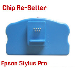 Chip Re-setter Epson Stylus Pro 7800, 7880, 9800, 9880 Maintenance Tank and Cartridges