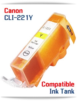 CLI-221Y Yellow Canon PIXMA Compatible ink cartridge