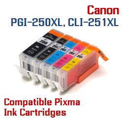 Buy Single PGI_250XL, CLI-251XL ink cartridges here