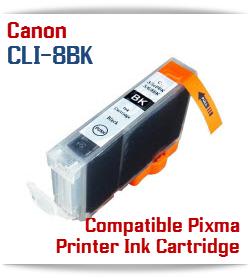 CLI-8BK Black Compatible Canon Pixma printer Ink Cartridge W/ Chip