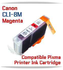CLI-8M Magenta Compatible Canon Pixma printer Ink Cartridge W/ Chip