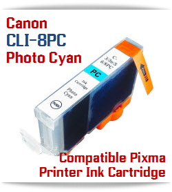 CLI-8PC Photo Cyan Compatible Canon Pixma printer Ink Cartridge W/ Chip