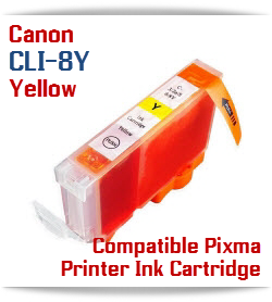 CLI-8Y Yellow Compatible Canon Pixma printer Ink Cartridge W/ Chip