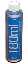 Cyan Dye Sublimation Ink 180ml Bottle Epson Desktop Printers