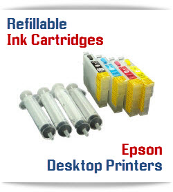Epson Desktop small printer Refillable Ink Cartridges