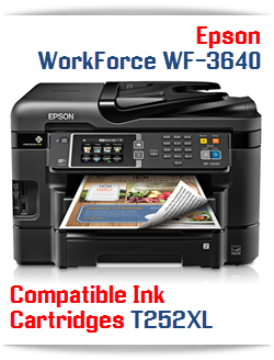 Epson WorkForce WF-3640 compatible ink cartridges