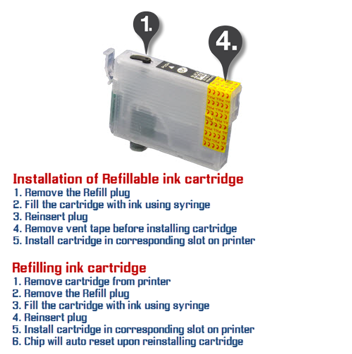 Installing Desktop Refillables cartridges