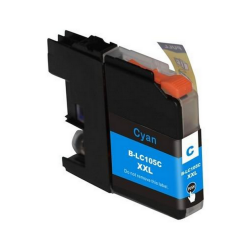 LC105XXLC Cyan Brother Compatible Printer Ink Cartridge