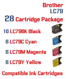Brother LC79 28 Cartridge Package Compatible Printer Ink Cartridges