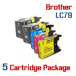 Brother LC79 5 Cartridge Package Compatible Printer Ink Cartridges