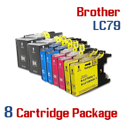 Brother LC79 8 Cartridge Package Compatible Printer Ink Cartridges