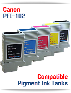 Canon PFI-102 Compatible Ink Cartridges 130ml