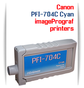 Cyan Canon imageProGRAF iPF8300, iPF8300S, iPF9300 Compatible Pigment Ink Tank 700ml