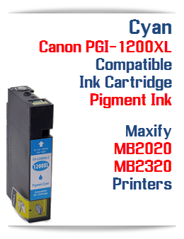 Cyan PGI-1200XL Compatible Ink Cartridge Canon Maxify MB2020, MB2320