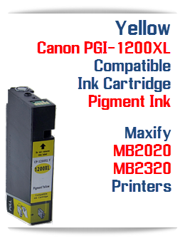 Yellow PGI-1200XL Compatible Ink Cartridge Canon Maxify MB2020, MB2320