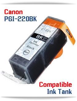 PGI-220BK Black Compatible Canon Pixma printer Ink Cartridge W/ Chip