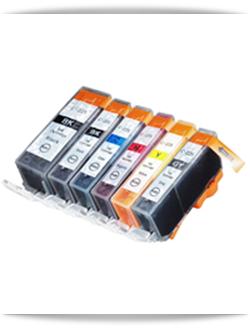 PGI-225BK, CLI-226BK, CLI-226C Cyan, CLI-226M Magenta, CLI-226Y Yellow, CLI-226GY Grey Compatible Canon ink cartridges