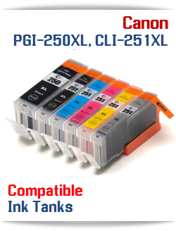 PGI-250XL, CLI-251XL Compatible Canon Pixma ink cartridges
