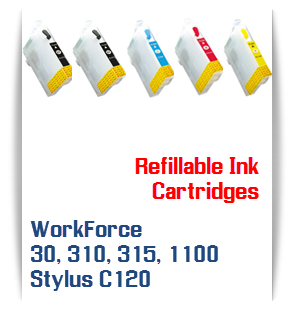 Refillable ink cartridges WorkForce 30, 310, 315, 1100, Stylus C120