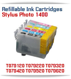 Refillable Ink Cartridges Epson Artisan 1430, Stylus Photo 1400